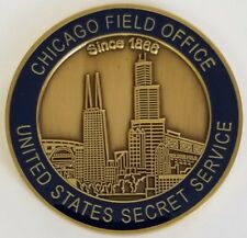 "USSS Secret Service CHICAGO FIELD OFFICE 1.75"" Challenge Coin"