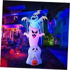 10 Foot High Halloween Inflatable Overlap Ghost Blow Up Yard Decoration