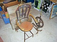 Antique Adjustable Dentist Chair With Foot Pedal Drilling Wheel Dental Parts