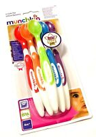 pack of 6  Munchkin Soft Tip Spoons Baby Feeding Spoons, Baby Weaning Spoons