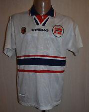 NORWAY TEAM 1998/1999/2000 AWAY FOOTBALL SHIRT JERSEY MAGLIA UMBRO SOLSKJAER ERA