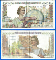 France 10000 Francs 1952 2 May French Engineer Great Banknote Free Ship World