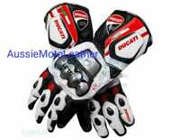 DUCATI MOTOGP LEATHER GLOVES MOTORBIKE MOTORCYCLE COWHIDE LEATHER BIKERS GLOVES