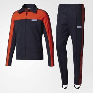 Adidas Men Originals OG Tracksuit (navy / legend ink / bold orange) BQ4936 NEW!