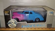 1/18 EAGLE COLLECTIBLES 1940 FORD DELUXE HOT ROD BLUE & PINK yd