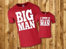 Big Man Little Man Funny Cool Father Son T-Shirts Matching Set 5 colours