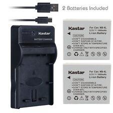 NB-4L Battery&Slim USB Charger for Canon PowerShot ELPH 300 HS, 310 HS, 330 HS