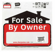 Hy-Ko  English  For Sale by Owner  Sign  Plastic  12 in. H x 13 in. W