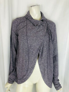 LULULEMON gray purple cape style jacket Size 8