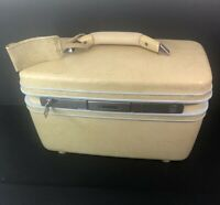 1970s Vintage Samsonite Silhouette Cosmetic Make-up Train CaseW/ Key Some Flaws