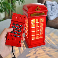 Home Telephone Booth Corded Telephone Wired Phone Booth LED Table Lamp 1224U