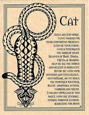 CAT PRAYER Shaman Animal Spirit Poster Page Art Native Am Celtic Wicca