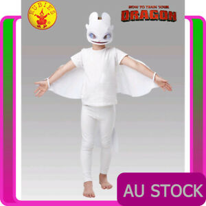 How to Train Your Dragon 3 Light Fury Child Girls LIGHTFURY Costume Accessories