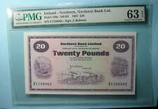 1987 Northern Ireland 20 Pounds Pmg Choice Uncirculated 63 Epq Inv#Pm108-15