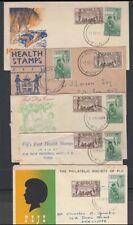 FIJI 1951 HEALTH FDC's (x5) (ID:149/D40454)