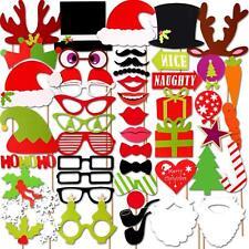 50x Weihnachten Party Foto Verkleidung Photo Booth Props Set Schnurrbart Brille