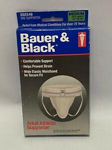 Vintage 1991 Bauer & Black Adult Athletic Supporter Jock Strap Medium Brand New