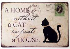 Cat Vintage/Retro Decorative Indoor Signs/Plaques