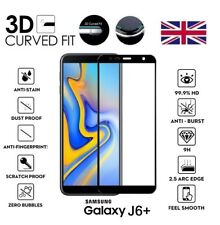 For Samsung Galaxy J6 PLUS 2018 3D Curved Tempered Glass Screen Protector Black