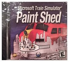 Microsoft Train Simulator Paint Shed Pc Brand New Sealed Free US Shipping Nice