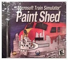 Microsoft Train Simulator Paint Shed (PC, 2002) BRAND NEW SEALED -FREE U.S. SHIP