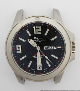 Huge Ball Hydrocarbon Engineer DM2036A Day Date Mens Steel Watch for Parts