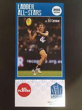 2015 Ladder AFL All Star Card Ed Curnow Carlton Blues