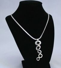 """AMZING ITALY STERLING SILVER LARIAT NECKLASE 24 GRAMS 22"""" LONG"""