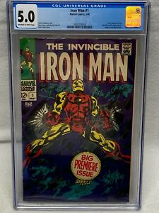 IRON MAN #1 1ST ISSUE OF TITLED SERIES MARVEL 1968 FRESH GRADE CGC 5.0