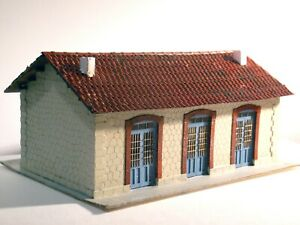 Laser-cut kit of typical small Greek railway station scale H0 1:87