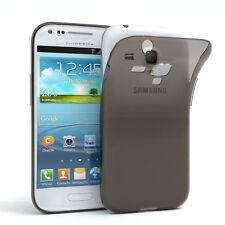 Ultra Slim Cover für Galaxy S3 Mini Case Silikon Hülle Transparent Anthrazit