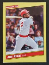 2020 Donruss #226 Jim Rice RED SOX HOF'er Yellow Parallel baseball card NM/MT