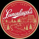 Leinenkugel's Chippewa Falls Est 1867 Round Tin Metal Beer Bar Sign Made In USA