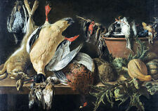 Still Life with Game and Vegetables by Adriaen van Utrecht 75cm x 52.5cm Canvas