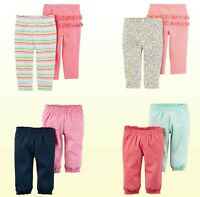 NWT Carter's Baby Girls' 2-Pack  Pull-On Pants - Newborn- 24 Month  New
