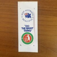 Vintage Pre-2000s 'Do the Right Thing' Keep Australia Beautiful Sticker (Small)