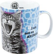 Katze  Kaffee Becher Könitz Porzellan 400ml Tasse I am not an Animal blau Cat