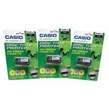 3 CASIO TR-18BK Ink Ribbon Cassette Black Cartridge CD DVD Disc Label Printer