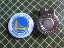 GOLF / Golden State Warriors Logo Golf Ball Marker/with Magnet Hat Clip New!!