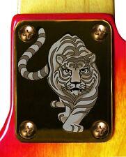 Neck Plate Neckplate Gold Fender Strat Tele P Bass J Bass Guitar Tiger