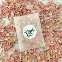 10 Pink Confetti Packets Natural Dried Real Petal Biodegradable Wedding Confetti