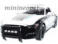 MAISTO 2015 FORD MUSTANG GT 5.0 #13 1/18 DIECAST MODEL POLICE CAR BLACK WHITE