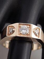 Men's Designer 3-stone Diamond Ring .66 tcw F/VS 14k Yellow Gold Estate Wedding
