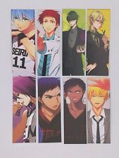 8pcs Kuroko No Basket Paper Bookmarks Double faced Reading Book Mark Anime Cards