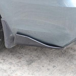 2pc Carbon Fiber Style Car Anti-scratch Strip Rear Bumper Lip Diffuser Splitters