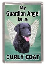 """Curly Coated Retriever Dog Fridge Magnet """"My Guardian Angel is a  """" by Starprint"""