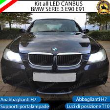 KIT LED BMW SERIE 3 ANABBAGLIANTI ABBAGLIANTI LUCI POSIZIONE CANBUS 3.0 BIANCO