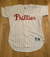 Philadelphia Phillies Vintage Russell Diamond Collection Pinstripe Jersey 44 L