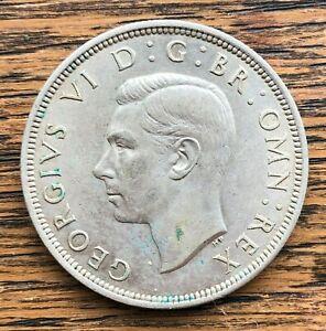 1939 King George VI Silver Half Crown Coin