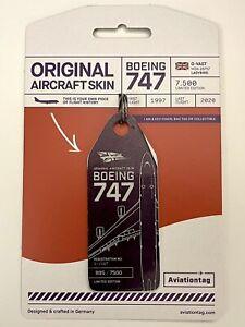 Aviationtag Virgin Atlantic B747 G-VAST Purple/White little bicolour